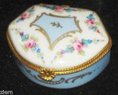 Limoges Trinket Dresser Porcelain Box Hand Painted