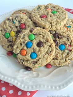 The best monster cookies are loaded with peanut butter, oats, chocolate chips, and mini m&m's! Thick, chewy, soft-baked cookie thanks to a secret ingredient.
