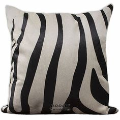 Zebra Print Cowhide Pillow Case