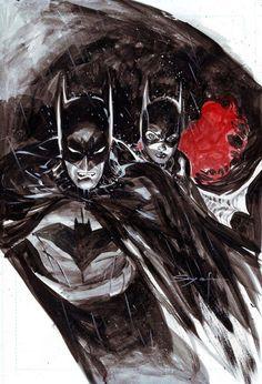 Batman and Batgirl by Ardian Syaf Batman And Batgirl, Batman Art, Batman And Superman, Batman Robin, Marvel Dc Comics, Comic Book Characters, Comic Book Heroes, Comic Character, Comic Books Art