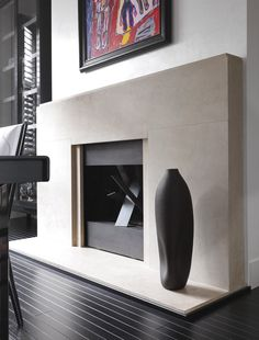 My advice on fireplaces - A fireplace is a natural focal point in a home. They are inviting and welcoming. There's nothing like gathering… Home Fireplace, Modern Fireplace, Fireplace Surrounds, Fireplace Design, Fireplaces, Monochrome Interior, Gray Interior, Interior Design Tips, Kelly Hoppen Interiors