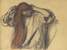 Edgar Degas (1834-1917) | Femme se coiffant.