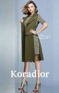 Close working relationship: Miranda has previously walked for Koradior, including at Milan Fashion Week in September