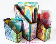 Printing with Gelli Arts®: Gel printing with Acrylic Inks and Re-Inkers with GelliArts® By Giovanna Zara Acrylic Paint Storage, Acrylic Paint Set, Acrylic Artwork, Stencil Fabric, Fabric Painting, Gelli Plate Printing, Printing On Fabric, Diy Magazine Holder, Gelli Arts