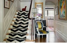 The Zhush: Divine Details: Patterned Stair Runners