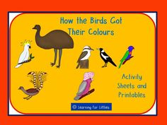 This resource is the perfect teaching companion for the Aboriginal Dreamtime story, 'How the Birds Got Their Colours', told by Pamela Lofts and Mary Albert. It is ideal for NAIDOC activities or an Indigenous Text study. Retelling Activities, Color Activities, Writing Activities, Educational Activities, Aboriginal Education, Indigenous Education, Indigenous Art, Naidoc Week Activities, Aboriginal Dreamtime