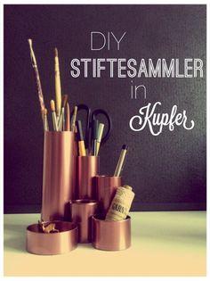 DIY Stiftesammler in Kupfer auf www.ausstattungundso.de