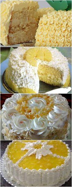 BOLO DE FESTA DE ABACAXI COM COCO, BOLO MOLHADINHO!! VEJA AQUI>>>1 caixa de leite condensado 1 colher de amido 250 ml de leite #receita#bolo#torta#doce#sobremesa#aniversario#pudim#mousse#pave#Cheesecake#chocolate#confeitaria