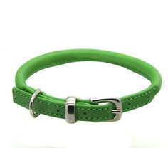 Rolled soft leather collar finished with a silver (nickel-plated brass) buckle. Green Leather, Soft Leather, Luxury Dog Collars, Brass Buckle, Leather Collar, Mans Best Friend, Rolls, Colours, Greyhounds