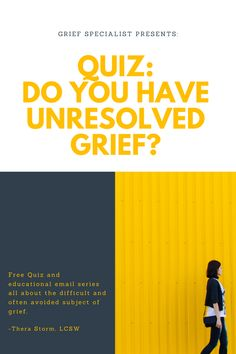 LCSW and Advanced Grief Recovery Specialist (trained at the Grief Recovery Institute) developed quiz for people to review past relationships and losses and assess whether they have unresolved grief. 7 short emails will be sent for 7 days - packed with information on grief and helpful information for anyone who is suffering from a loss or wants to help someone who is hurting. Past Relationships, Grief, Assessment, Clarity, Recovery, It Hurts, Education, People, Onderwijs
