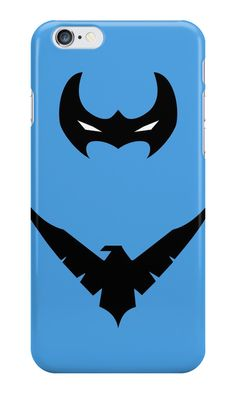 """Nightwing Minimalist Art"" iPhone Cases & Skins by adesigngeek 