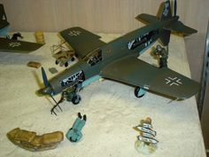 WWII Model Airplane Display Citrus County Library - Coastal Branch July 2014