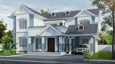 Double Storey Terrace House Design Traditional Home Kerala Style Modern Family House, Modern House Plans, House Floor Plans, 1500 Sq Ft House, Four Bedroom House Plans, House Plans With Pictures, Beautiful House Plans, Kerala House Design, Kerala Houses