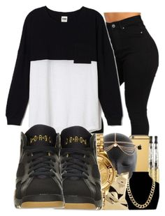 """""""."""" by ray-royals ❤ liked on Polyvore featuring moda, Victoria's Secret PINK e Retrò"""