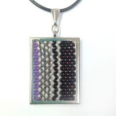 New to pidgepidge on Etsy: Tapestry Pendant Necklace Cozy Scarf, Blanket Scarf, Weaving Art, Hand Weaving, Boho Necklace, Pendant Necklace, Jewelry Art, Unique Jewelry, Unique Art