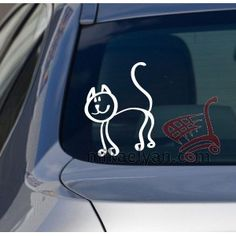 Car stickers>Childish style cat for sale from 3.90 #wall #art #stickers #decal