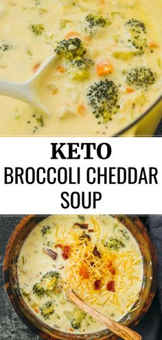 An easy recipe for broccoli cheddar soup. Great for low carb and keto diets. An easy recipe for broccoli cheddar soup. Great for low carb and keto diets. Keto Foods, Ketogenic Recipes, Low Carb Recipes, Diet Recipes, Cooking Recipes, Dessert Recipes, Keto Meal, Soft Food Recipes, Recipes For One