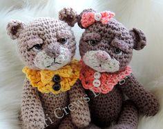 So niedliche Baby Doll Häkelmuster mit Teddy Bär von TCrewsDesigns