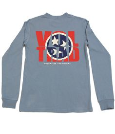 VOLTRAD L/S TEE- The New VOLTRAD Tee is 100% cotton and comes in two great colors,Stone/Blue and Navy/Orange. tyalexanders.com