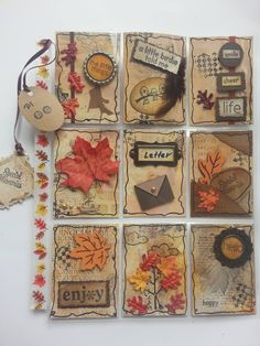 Fall Pocket Letter Use As Inspiration For ATC's Artist Trading Card