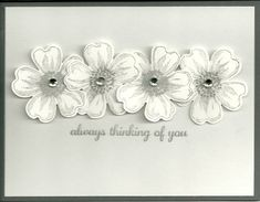 Flower Shop  - stampin up - a Study in Grays by GunnysCathy - Cards and Paper Crafts at Splitcoaststampers