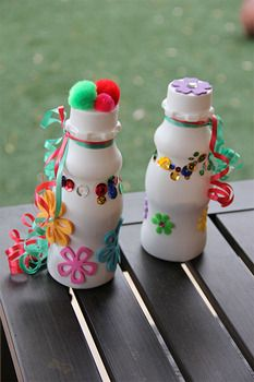Cinco de Mayo crafts from Shamrock Farms milk bottles!
