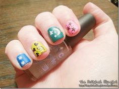 nail art with stickers  #stickers  #nails  #bornprettystore  #coupon  #MSG10  *ahem* Those are actually stamps, not stickers, thank you very much.