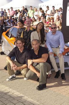 Michelle Rodriguez, Rob Cohen, Jordana Brewster, Paul Walker, Vin Diesel (Photo by Tony Barson Archive/WireImage) via @AOL_Lifestyle Read more: https://www.aol.com/article/2016/06/03/paul-walkers-daughter-meadow-shares-a-rare-photo-and-looks-s/21389269/?a_dgi=aolshare_pinterest#fullscreen