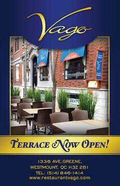 Restaurant Vago - a local treasure of Italian cuisine. Montreal, Terrace, Restaurants, Outdoor Decor, Home Decor, Balcony, Decoration Home, Patio, Room Decor