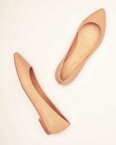 Nisolo Ava Ballerina Flat Beige