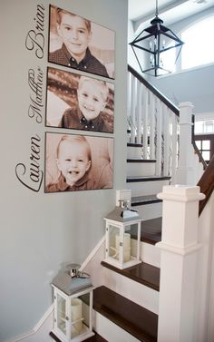 Writing with a gallery wall. Love this combo!-Writing with a gallery wall. Love this combo! Writing with a gallery wall. Love this combo! Diy Home Decor, Room Decor, Deco Design, Home And Deco, My New Room, Family Pictures, My Dream Home, Home Projects, Family Room