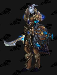 Paladin lvl 100 - Battlegear of Guiding Light (Blue/Gold) - Back: Permafrost Cape - Weapon: Sunsoul Sword - Shield: Fallen Defender of Argus