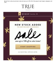 True & Co sale email - gif