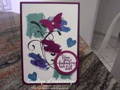 Carolyn's Card Creations: Another Works of Art card in Blackberry Bliss