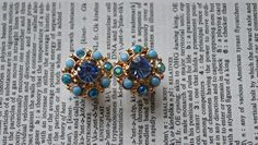 Hey, I found this really awesome Etsy listing at http://www.etsy.com/listing/158590143/blue-with-turquoise-stone-and-rhinestone