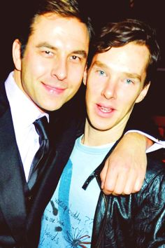 David Walliams and Benedict Cumberbatch. Your argument is invalid.  Also, Benny looks REALLY thin here... @T.T. Showbiz I think he needs some Black Forest Cake....