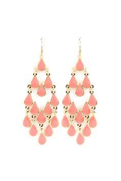 Blushing Lani Chandelier Earrings on Emma Stine Limited