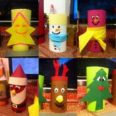 Χριστουγεννιάτικες χειροτεχνίες από ρολό τουαλέτας ⭐️⛄️