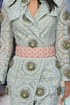 I'm in Love, jewels. Flowers, lace, and embroidery.... Burberry Prorsum Spring 2014