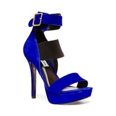 UKRAINE BLUE NUBUCK women's dress high ankle strap - Steve Madden Crazy Shoes, Me Too Shoes, Shoe Boots, Shoes Heels, Beautiful High Heels, Steve Madden Shoes, Shoe Game, Daily Fashion, Ankle Strap