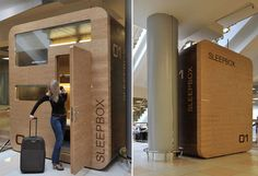 Arch Group answers the prayers of jet-lagged travelers with Sleepbox, a private sleep cabin and shower for hire at airports