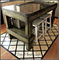 DIY Kitchen Island- I officially want to do everything on this site | fabuloushomeblog.comfabuloushomeblog.com