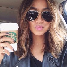 Admirable Coiffures Ombre And Thick Hair On Pinterest Short Hairstyles Gunalazisus