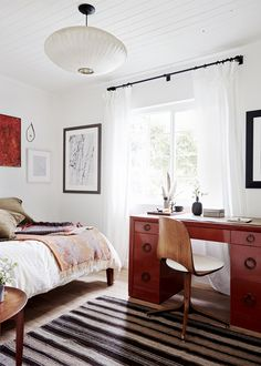 cozy guest room and office relaxed ranch house tour on coco kelley