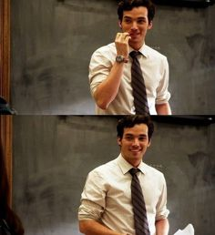 "Mr. Fitz) hello class, how about today we do some introductions. I want you to each come get a chalk and write your name, and three things that describe you"" I smile.  (his Advanced english is now starting )"
