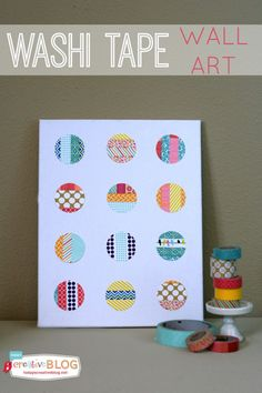 Guest blogger Kim Demmon shares a washi tape wall craft | CherylStyle.com