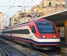 An Alfa Pendular at Lisbon Santa Apolonia, trains from lisbom