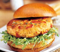 weight watchers recipes: Crab Cake Burgers Plus+ 4 Per Serving