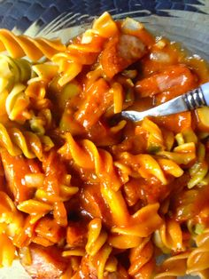 Kielbasa Corkscrew Pasta Dish