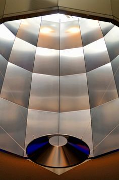 """""""Another kind of light reflector...detail of the modern architecture of the Zürich airport."""" Photo by Tambako the Jaguar, via Flickr."""
